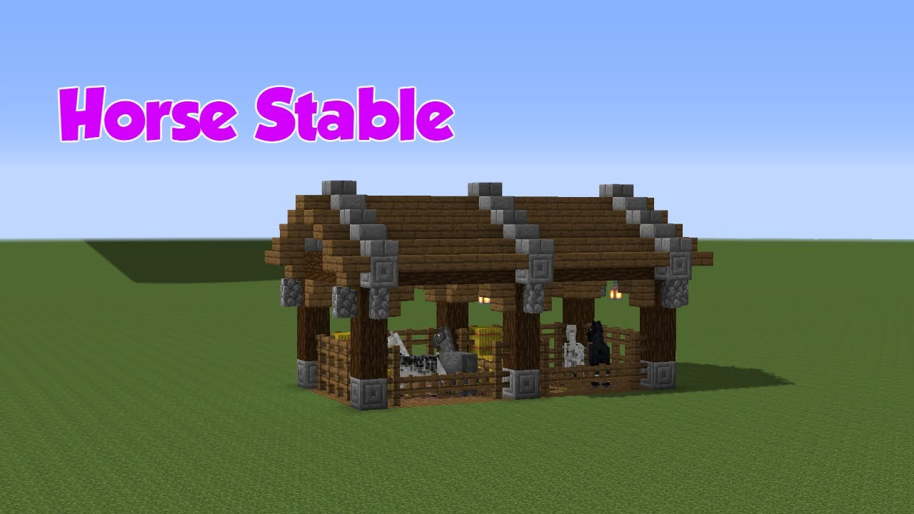 Minecraft Horse Stable Tutorial Youtube