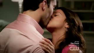 Jane the Virgin 1x11 Jane and Rafael Romantic Kiss & Cuddle Scene