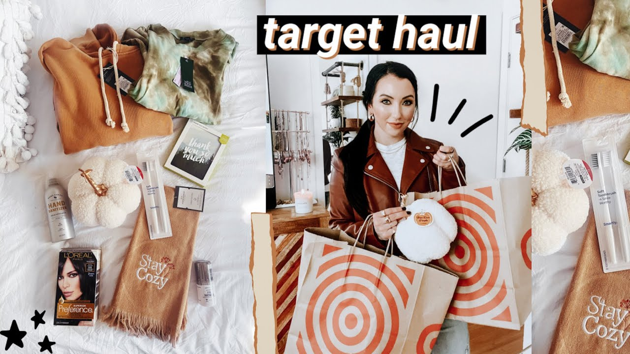 TARGET FALL HAUL 2020 // essentials, fall decor, clothing, hair dye I use!