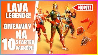NEW LAVA LEGENDS PACK in FORTNITE! GREAT GIVEAWAY! * GIVES AWAY 10x STARTERPACK! * | K4P1