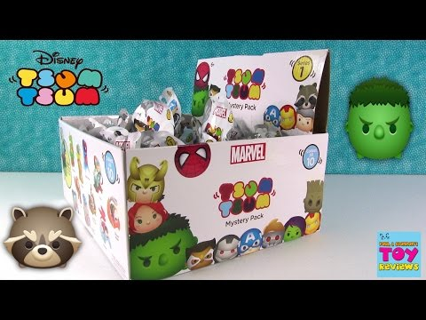 Disney Marvel Tsum Tsum Series 1 Full Box Collection Blind Bag Opening | PSToyReviews