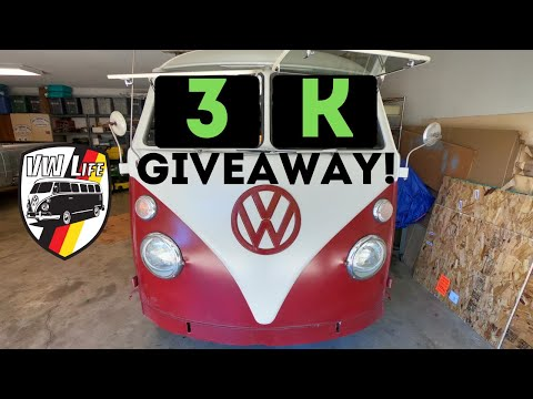 3,000 Subscriber Giveaway! Thanks from #VWLife