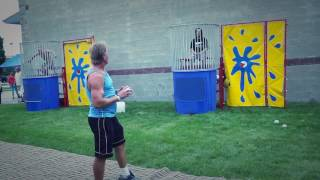 Dunk Tank party video: Rent in Iowa Today.