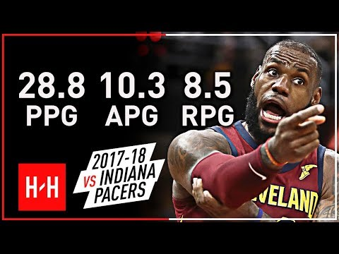 LeBron James Full Highlights vs Indiana Pacers from 2017-18 NBA Regular Season! EPIC PLAYS!