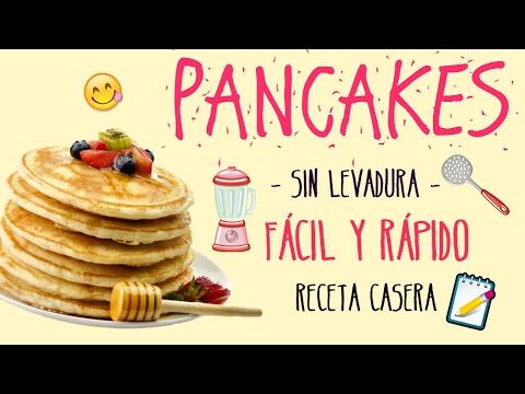 PANCAKES SIN LEVADURA | FÁCIL Y RÁPIDO DE HACER