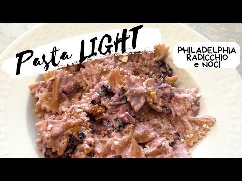 healthy-italian-pasta-recipe-with-philadelphia,-radicchio-and-walnuts