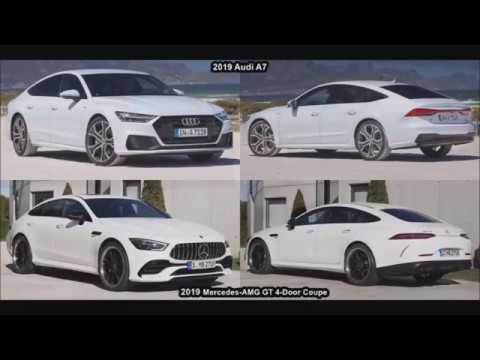 2019 Mercedes Amg Gt 4 Door Coupe Vs 2019 Audi A7 Sportback 8 Youtube