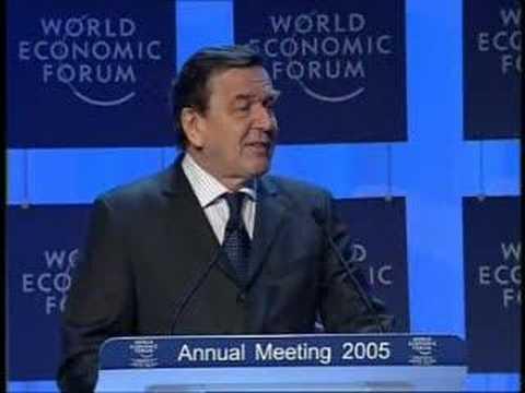 Davos Annual Meeting 2005 - Gerhard Schröder