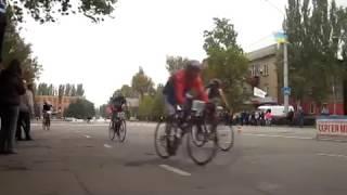 Шоссейно-кольцевая велогонка на выбывание. Мелитополь 21.10.2017