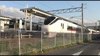 佐貫駅で先発列車を追い越す上野東京ライン常磐線下り特急ときわE657系