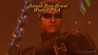 Super Smash Bros Brawl Albert Wesker PSA Hack Mod