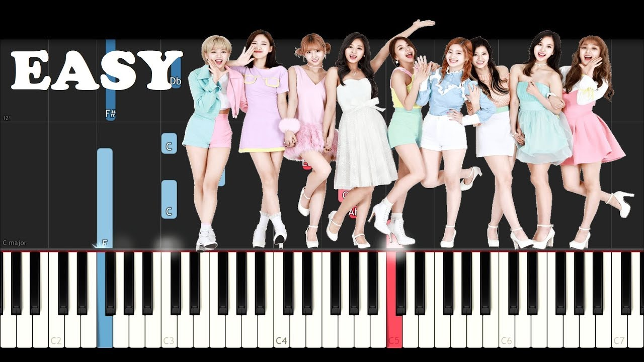Twice - Be As ONE (SLOW EASY PIANO TUTORIAL)