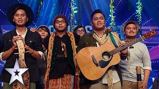 Sada Borneo Brings Back Relaxing Sounds of Borneo | Asia's Got Talent Semis 3