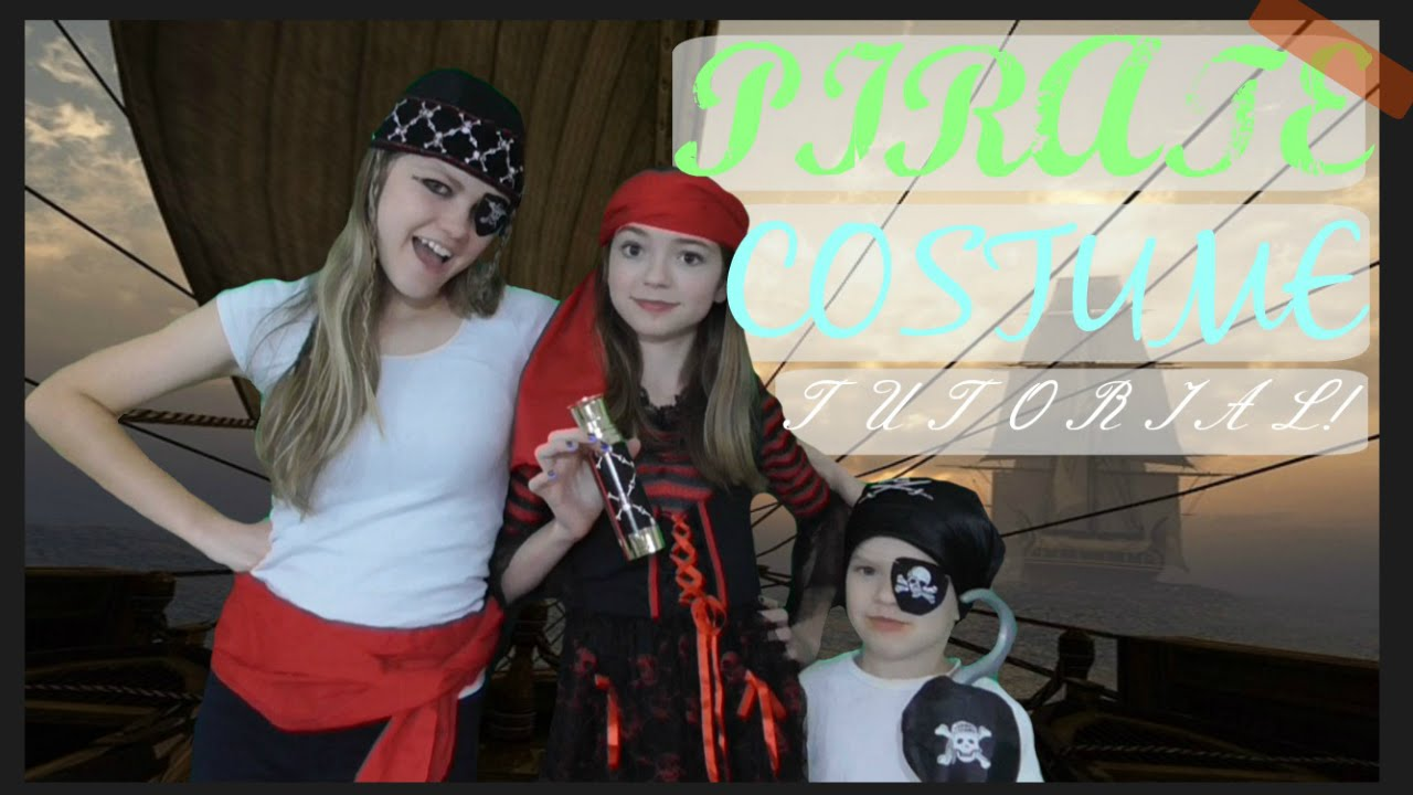Easy cute diy pirate halloween costume youtube solutioingenieria Image collections