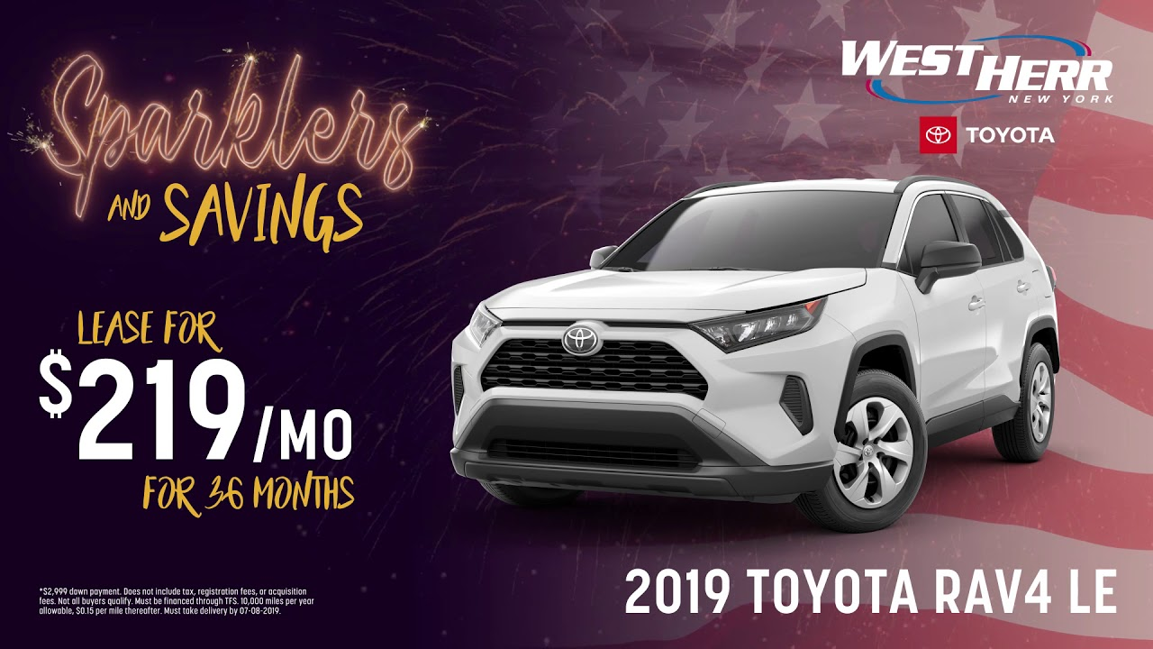 West Herr Toyota >> 4th Of July Savings At West Herr Toyota June 2019