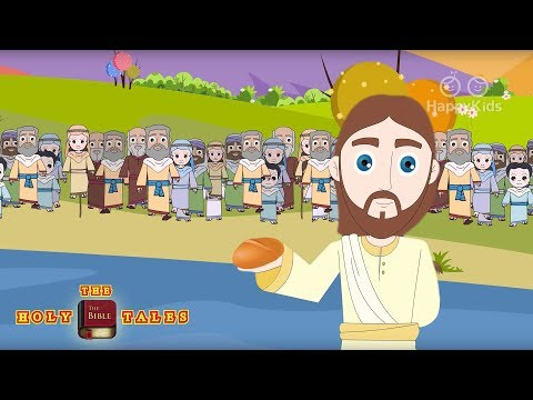 Jesus Feeds The Five Thousand I New Testament StoriesI  Bible Stories| Holy Tales Bible Stories