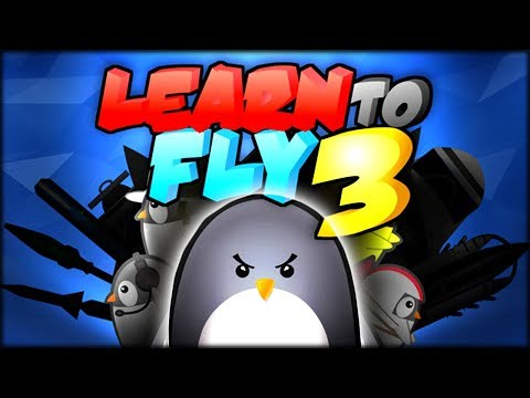 PENGUINS CAN FLY, LET'S GET TO THE MOON! | LEARN TO FLY 3 (GAME + MOON ENDING)