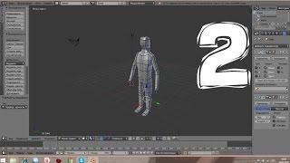 Создание болванки персонажа. Уроки по 3D моделированию в Blender. (Часть 2)