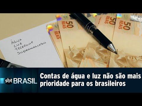 Contas de água e luz não são mais prioridade para os brasileiros | SBT Brasil (21/08/18)