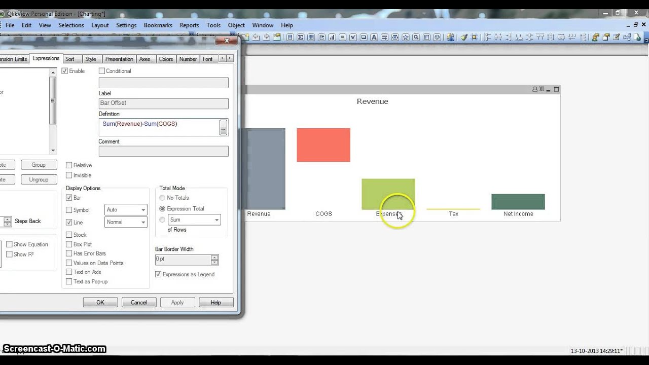 Qlikview tutorial charts waterfall chart also youtube rh