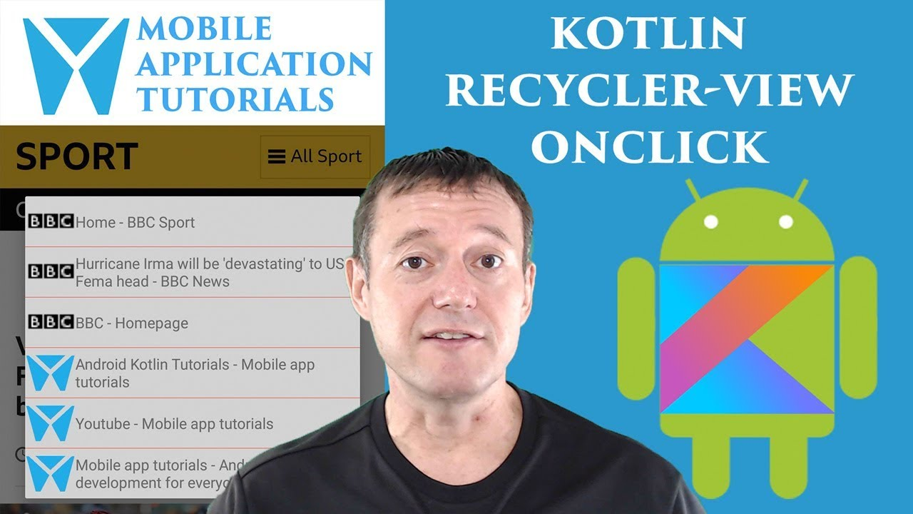 Kotlin android development tutorial - RecyclerView onClick