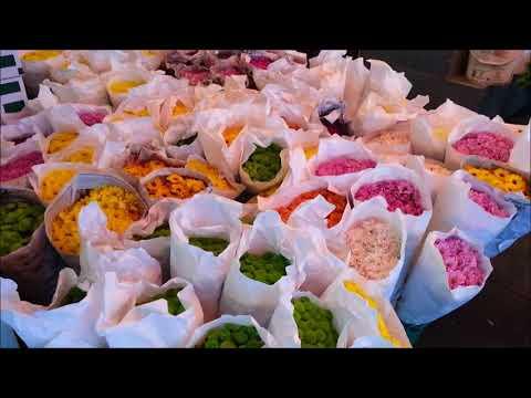 """Pak Klong Talad""   largest flower market Bangkok Thailand"