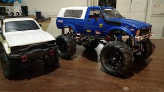 Mini mud truck insanely upgraded Wpl c24. Motor+metal