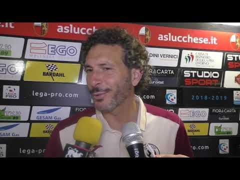 Lucchese-Arezzo 0-1, intervista a mister Dal Canto