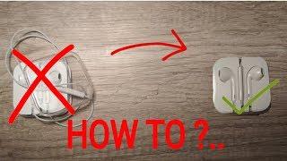 HOW TO RETURN IPHONE HEADSET BACK INTO THE BOX | Jak vrátit iPhone sluchátka zpět do krabičky
