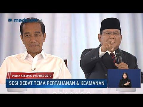 Debat Keempat Pilpres 2019 Part 3 - Jokowi Hormati TNI, Prabowo Marah