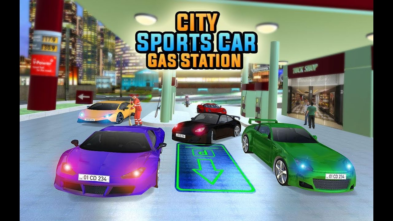 luxury car driving simulator gas station parking car driving games 4 kids android mobile game