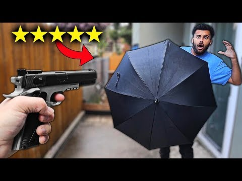 I Bought A 100% UNBREAKABLE UMBRELLA!! (5 STARS) *BULLET PROOF!!*