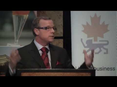Premier Wall speaks at the Canada - U.K. Chamber of Commerce Luncheon