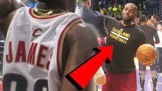 Repeat youtube video YELLING AT LEBRON JAMES BEHIND THE LAKERS BENCH!Cavaliers Vs Lakers  $1,000 ALL GOLD SHOES!