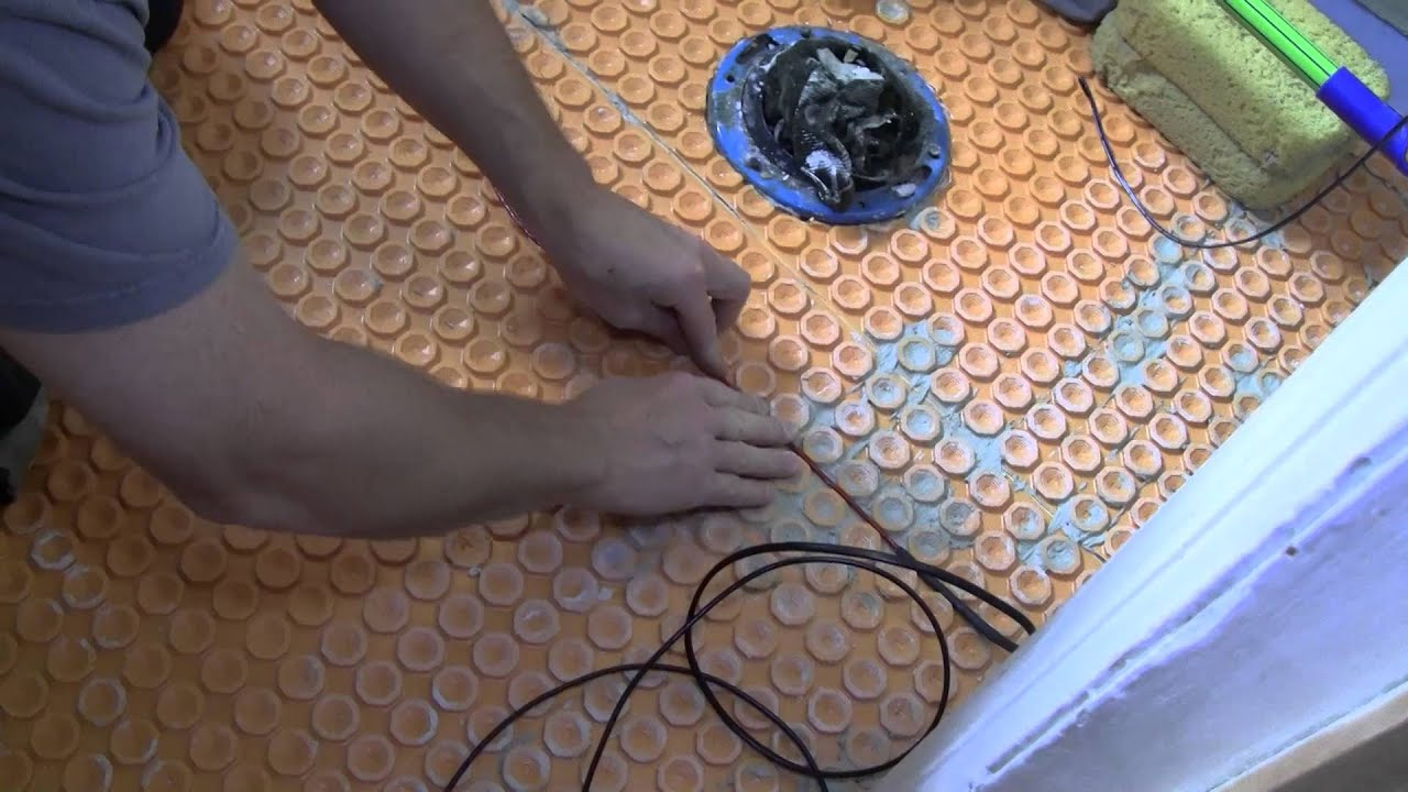 In Floor Heating Cable Installation Youtube