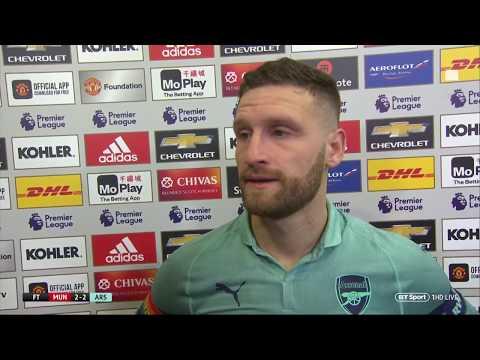 Shkodran Mustafi reacts as Arsenal go 20 unbeaten with draw at Man Utd