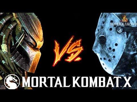 PREDATOR FIGHTS JASON VOORHEES INSANE BATTLE! - Mortal Kombat X: