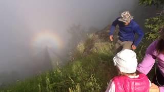 Чудеса в горах. Круглая радуга.