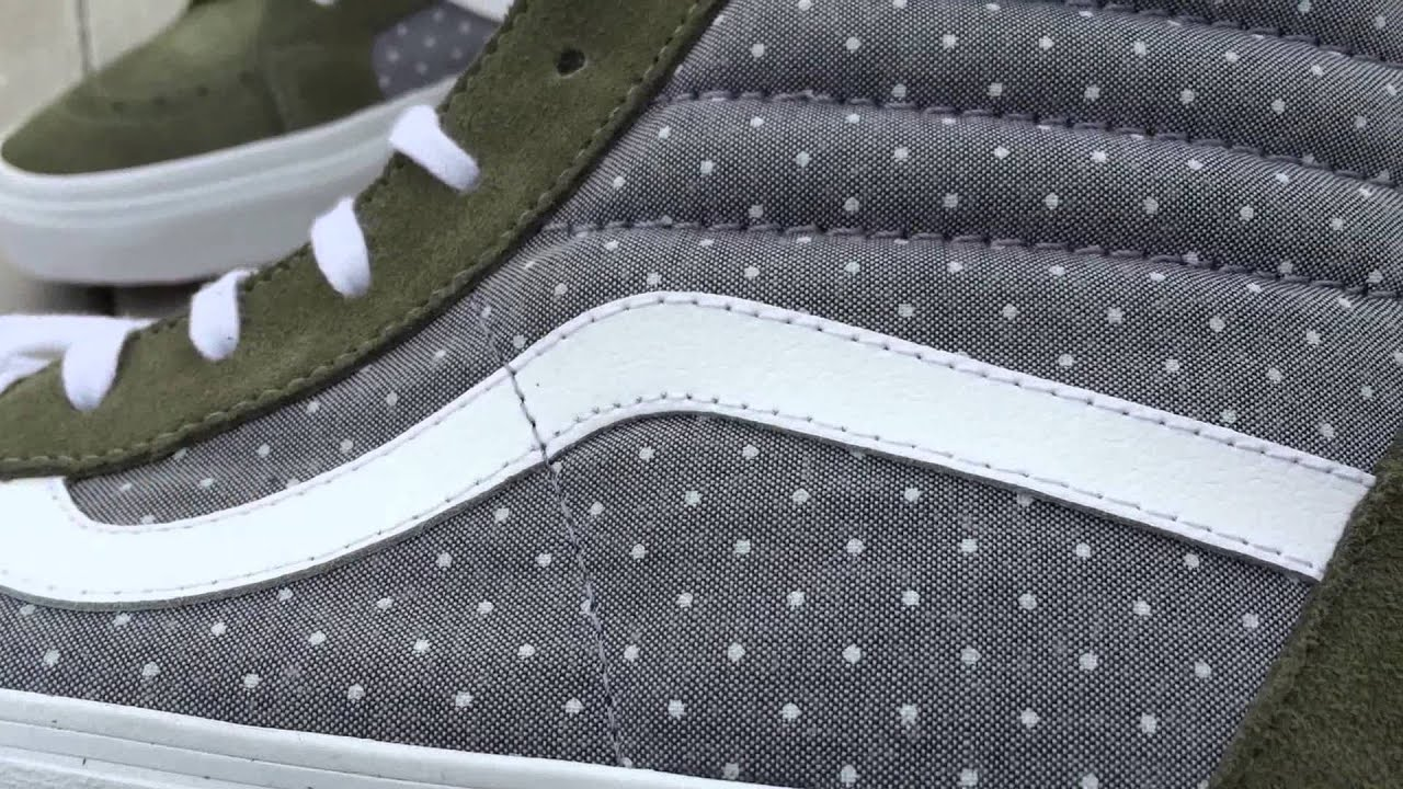 c00e87c185 Shoe Review  Vans  Chambray Dots  Sk8-Hi Reissue (Green Insignia Blue)