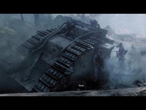 WW1 - British vs German Army Tank Battle - Battle of Cambrai - Over the Top - Battlefield 1