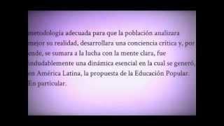 Historia de la Educación Popular  América Latina