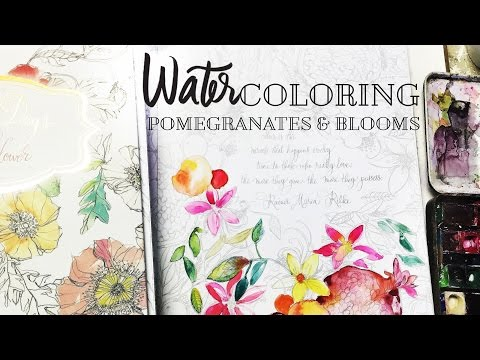 watercoloring-books-for-adults---pomegranates-and-blooms-from-painterly-days