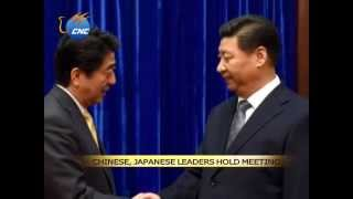 APEC: Chinese President Xi Jinping meets Japanese Prime Minister Shinzo Abe