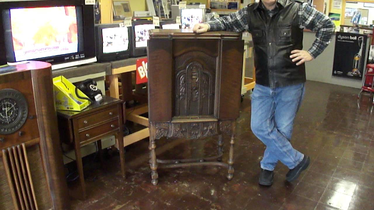 Vintage 1929 Stromberg Carlson Hand Carved Radio Youtube
