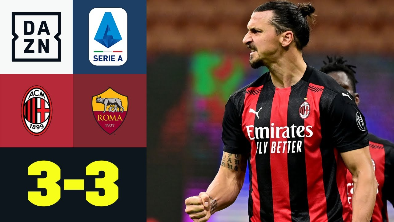 Schwergewichtskampf ohne Knockout: AC Milan - AS Roma 3:3 | Serie A | DAZN Highlights