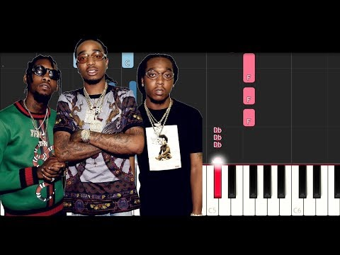 Migos - Notice Me (Piano Tutorial)