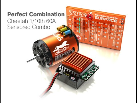 Unboxing & Calibrate Sky rc Leopard Combo ESC 60A+Motor 10,5t brushless