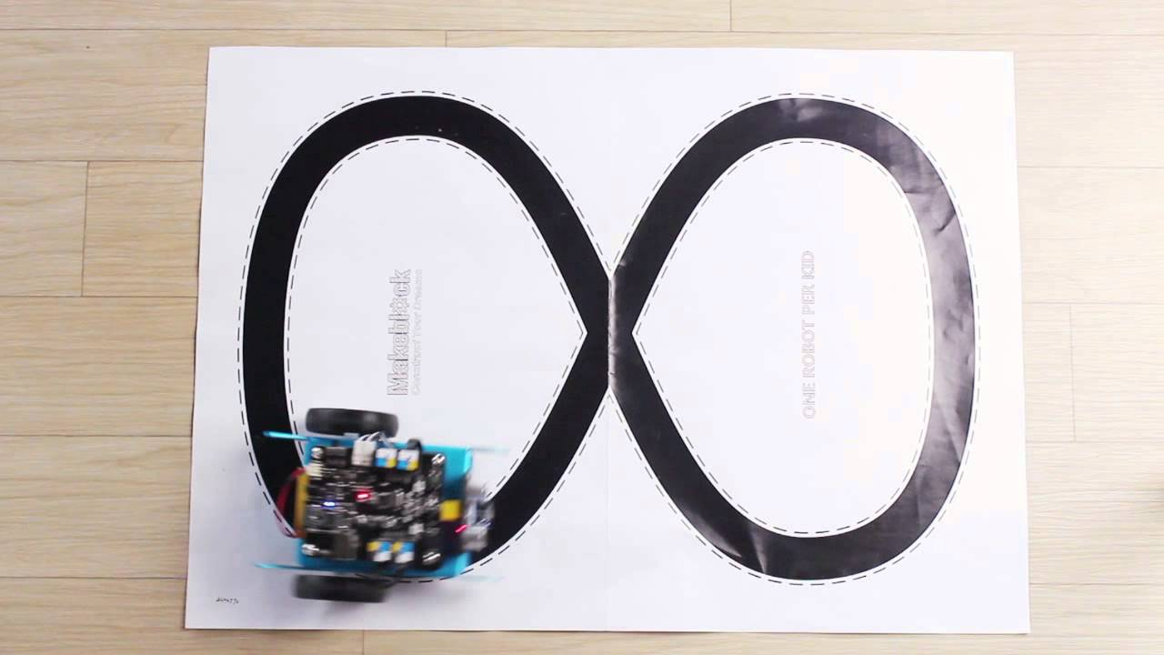 Line - following robot - mBot controlled using mBlock software