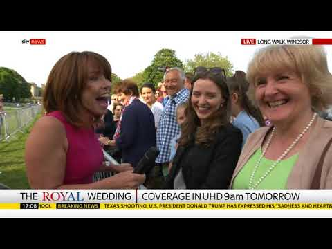Sky News: Live From Windsor - Royal Wedding 2018 (18th May 2018)