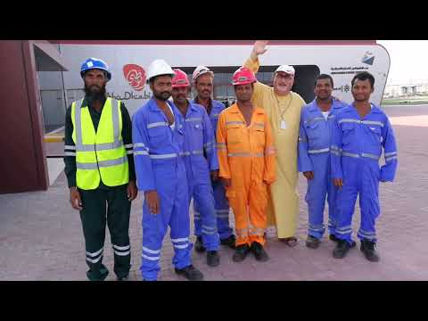 With the workers at Mina Zayed Port in Abu Dhabi 23.10.2017